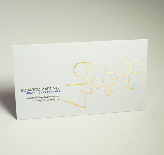 foil stamped business card printing