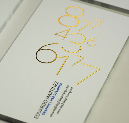 print foil stamped business cards